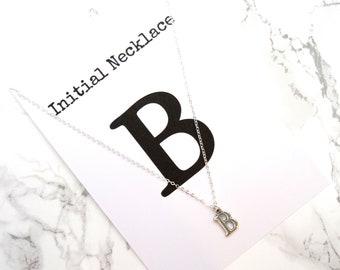 Minimalist Initial necklace, dainty personalized initial necklace, letter necklace, initial jewelry, custom name necklace, fine jewelry