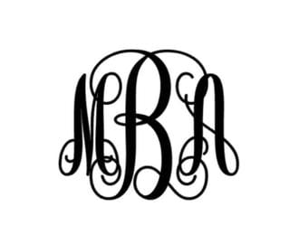 Monogram Decal- Simple Monogram- Vinyl decal for Tumbler- Yeti Decal- RTIC- Personalized Decal- Customized Decal