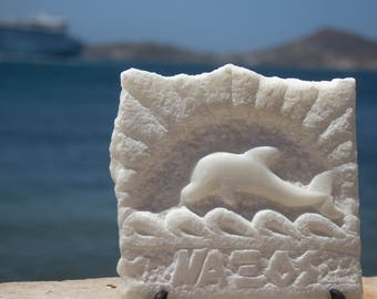 Handmade sculpture from white marble - Dolphin