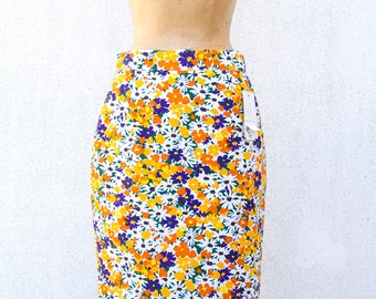 Vintage skirt-New with tag-Made in Italy-New with label-vintage stock-vintage skirt-80s-size 42 en-Cotton