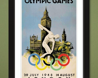 1948 London Olympic Games by Walter Herz (12x18 Heavyweight Art Print)
