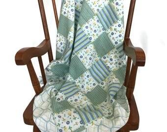 My Toy Patch Baby Boy Receiving Blanket, Mitered Corner Flannel Baby Blanket, Newborn Blanket, Baby Gift