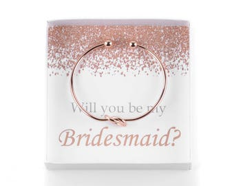 Will You Be My Bridesmaid, Bridesmaid Proposal, Knot Bracelet, Be My Bridesmaid Gift, Wedding Party Gifts, Ask Bridesmaids, Bridesmaid Gifts