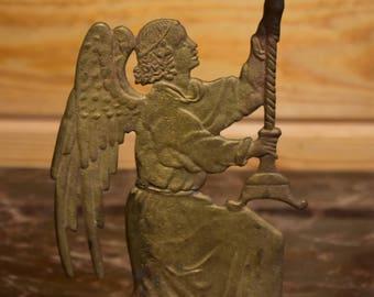 Vintage Brass Angel Candleholder