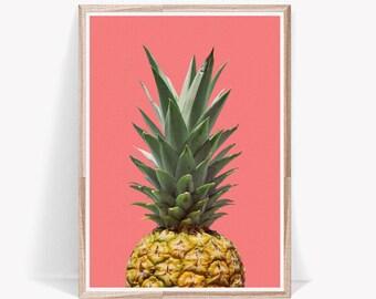 Digital Fruit Art,Digital Fruit Poster,Pineapple Print,Tropical Kitchen Art,Pineapple Poster,Kitchen Pineapple,Pineapple Prints,Pineapple