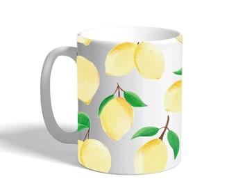 Lemon Coffee Mug, 11oz Ceramic Coffee Mugs, Motivational Mug, Morning Coffee Mug, Gift For Her, Uni Gift
