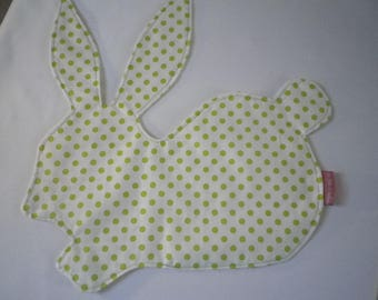 Placemat rabbit with polka dots kids - gift idea - home
