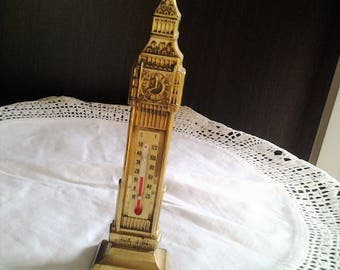 Big Ben London Thermometer - Copper and Brass
