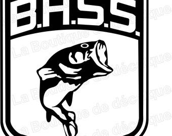 Bass, fishing, .eps, ready made by cutting fishing vinyl cutter