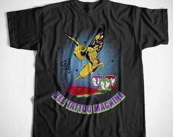 T-Shirt bee tattoo machine