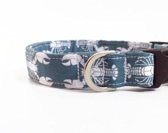Lobsters Dog Collar   Boy Dog Collar   Nautical Dog Collar   Blue Dog Collar   Male Dog Collar   Cute Dog Collar   Large Dog Collar