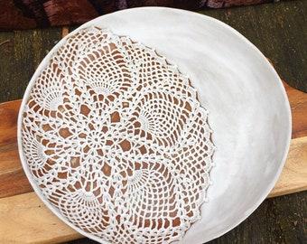 Large Doily Pressed Platter