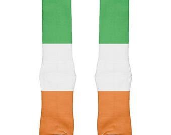 St Patricks Day Irish Flag All Over Crew Socks