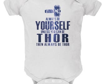 Always Be Yourself Thor White Soft Baby One Piece