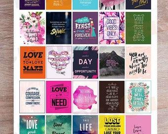 20%OFF Inspirational/Motivational Quotes For Erin Condren Printable Planner Sticker