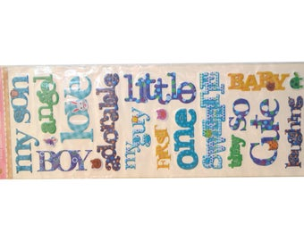 Various words fabric sticker