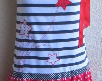 Girl summer dress scalable rain of stars