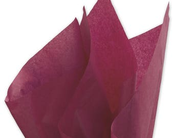 "Burgundy Tissue Paper - 15"" x 20"" - 96 Sheets"