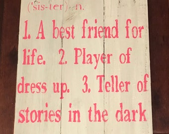 Sister sign
