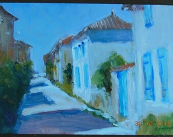 Acrylic on Panel Talmont alley