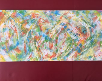 """Abstract Painting """"Summer Breeze"""""""
