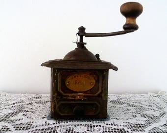 Ancient Antique coffee grinder coffee grinder/early ' 900 early