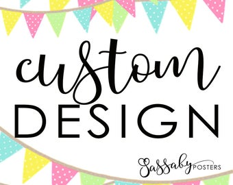 Custom Text Add On - Multiple - Sassaby Posters - Items Personalized Just for You!