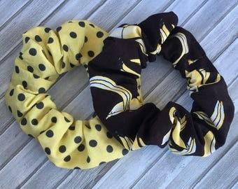 Banana /pois scrunchie