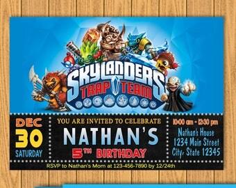 Skylanders Invitations, Skylanders Birthday, Birthday Invitation, Skylanders Party, Skylanders Invite, Skylanders Card,