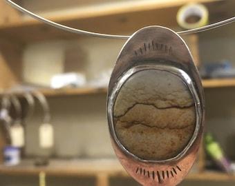 Picture Jasper Sterling Silver Pendant