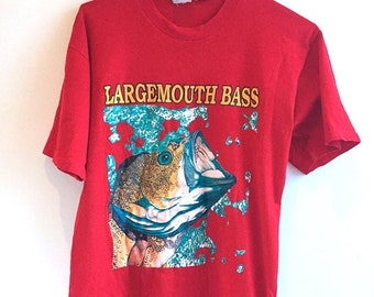 ON SALE 90s Large Mouth Bass Fishing T-Shirt!
