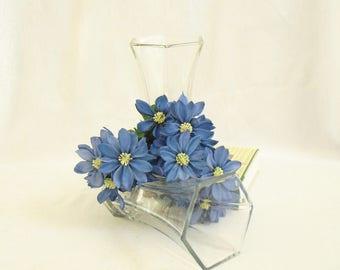 Vintage Hoosier Vase, 4040 6 Sided Flower Vase, All Season Holder, Floral Arrangements, Wedding Hostess Gift, Hexagonal Glass Centerpieces