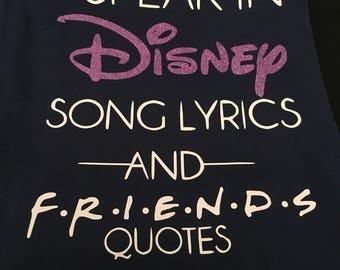 Disney and FRIENDS shirt/tank/racerback