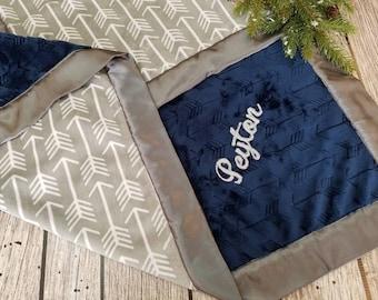 Baby Blanket personalized, Minky Blanket, Baby boy blanket, Arrow Baby Blanket, Personalized Baby Blanket, Boy baby blanket, baby boy gift