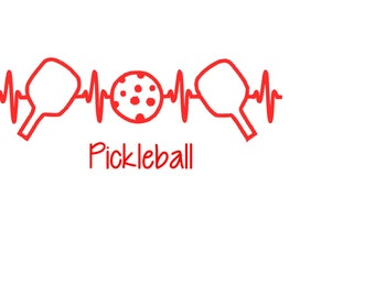 EKG Pickleball & Paddle Decal - Car Decal, Laptop Decal, Window Decal - FREE SHIPPING !