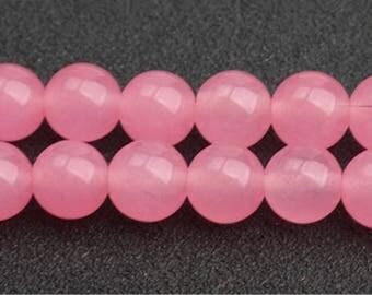 Rose Chalcedony beads - 15'' Full Strand Gemstone Chalcedony beads - Genuine Natural Stone bead - 4mm 6mm 8mm 10mm 12mm 14mm - B212