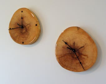 Live Edge Wood Wall Clock – clock wall clock stump clock tree ring clock rustic clock modern clock