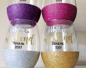 Glitter Wine Glass - Custom Wine Glasses - Personalized Wine Glass - Design your Own Wine Glass - Now Available in Rose Gold!!