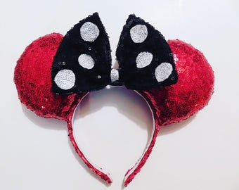 Classic Red & Black Minnie Ears