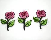 Motif/Patch - Pink Rose S...
