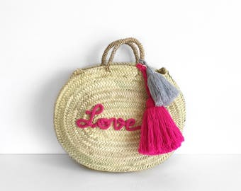 Personalized round tote bag - size M