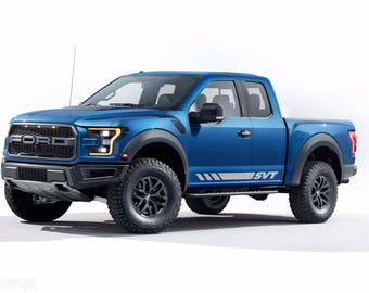 Ford F-150 Raptor svt 2017  graphics side stripe decal