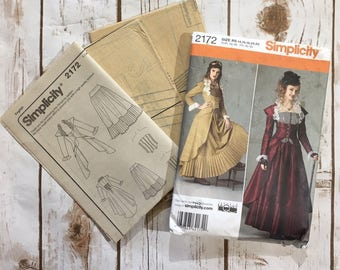 Simplicity Sewing Pattern 2172 UNCUT, Womens Steampunk Dress Pattern, Womens Victorian Dress Pattern, Steampunk Cosplay Costume Pattern
