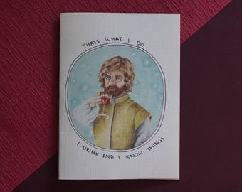 Game of Thrones Tyrion Lannister Card