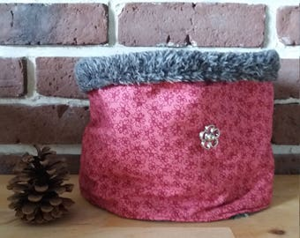 Snood fabric and faux fur for girl
