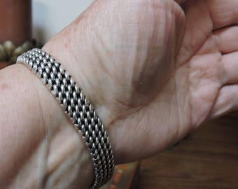 Sterling Flexible Bracelet 8.5 inches x 1 cm wide