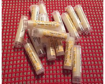 Organic Lip Balm, No Essential Oils (0.15oz)