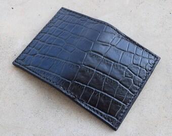 Alligator Embossed Leather Wallet