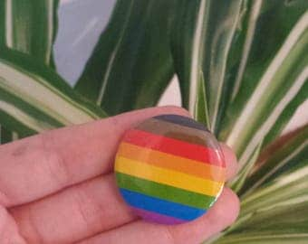New Pride Flag Button