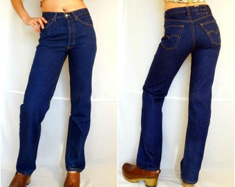 Mom jeans Levis W29 High waist Levi Strauss classic indigo blue denim pants straight cut leg vintage 1990s 90s